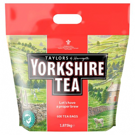 Taylors of Harrogate Yorkshire Tea Approx 600 Tea Bags 1.875Kg Black Tea